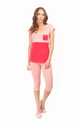 Pijamale, Pijama femei - Coral