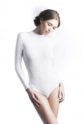 Body femei, Body maneca lunga femei - Alb