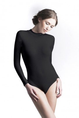 Body femei, Body maneca lunga dama - Negru