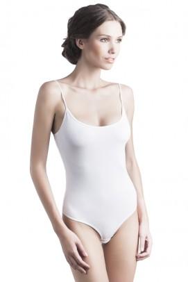Body femei, Body bretelute femei - Alb