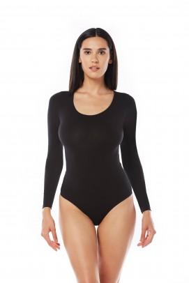 Body femei, Body negru maneca lunga dama - Body negru maneca lunga dama