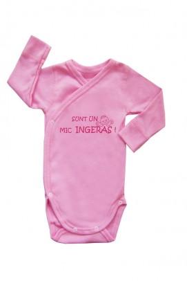 Articole pentru copii si bebelusi, Body cu slogan bebe - Roz
