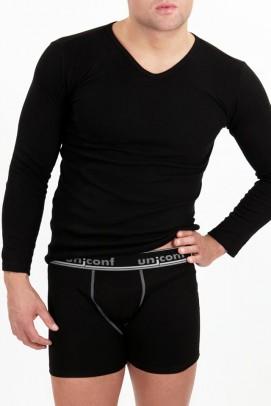 Lenjerie pentru sezonul rece, Bluza de corp barbati - Negru
