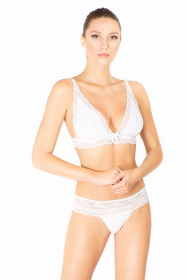 Lenjerie Intima Femei, Panty microfibra femei - ALB