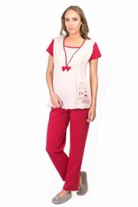 Gravide si proaspete mamici, Pijama pentru alaptat - Mov
