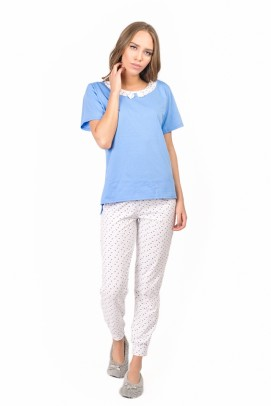 Pijamale, Pijama femei - Albastru