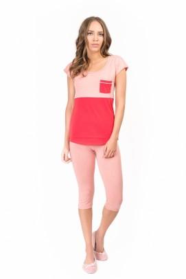 Pijamale Dama, Pijama femei - Coral