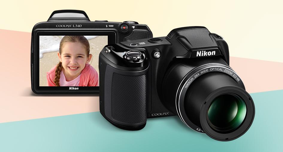 Aparatul foto Nikon Coolpix L340 pe care il poti castiga